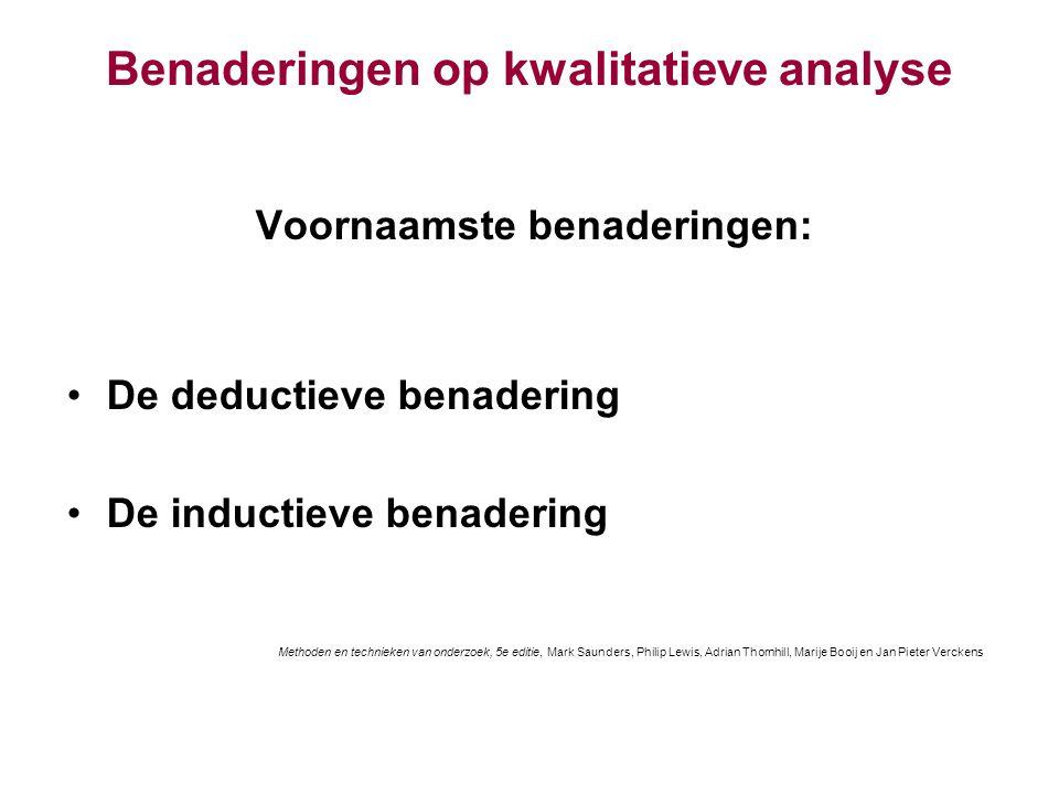 Benaderingen op kwalitatieve analyse