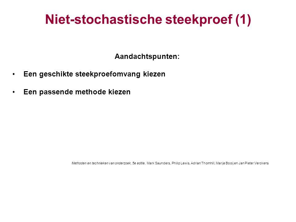 Niet-stochastische steekproef (1)