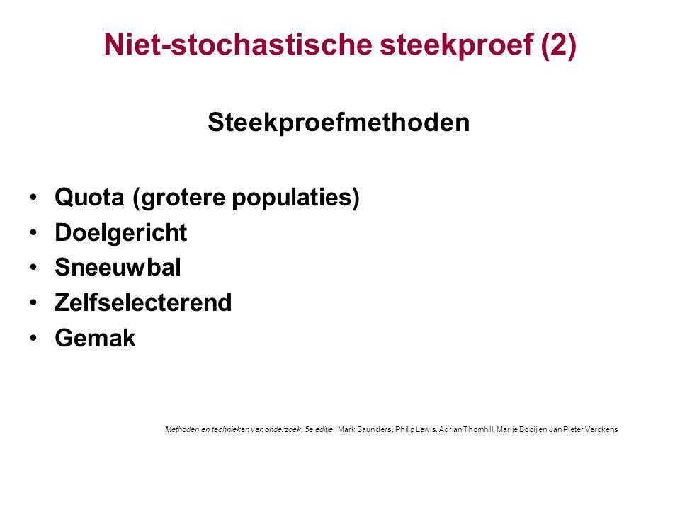 Niet-stochastische steekproef (2)
