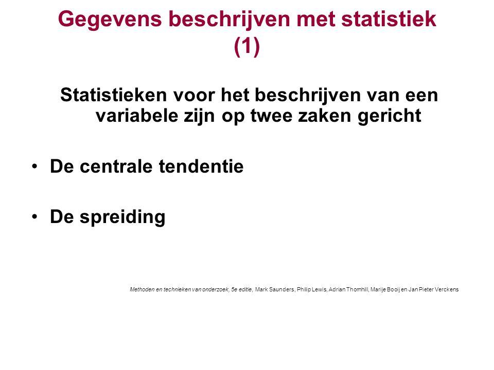 Gegevens beschrijven met statistiek (1)
