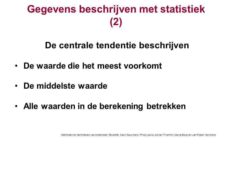 Gegevens beschrijven met statistiek (2)