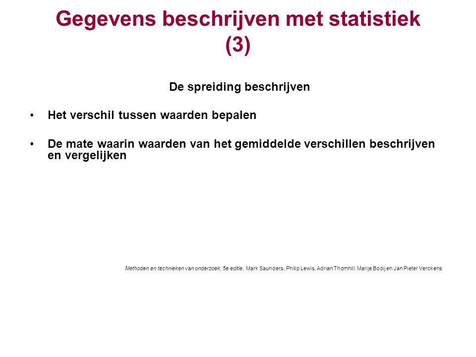 Gegevens beschrijven met statistiek (3)