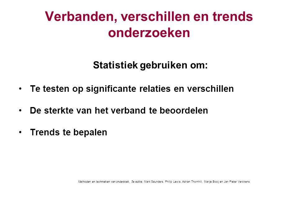 Verbanden, verschillen en trends onderzoeken