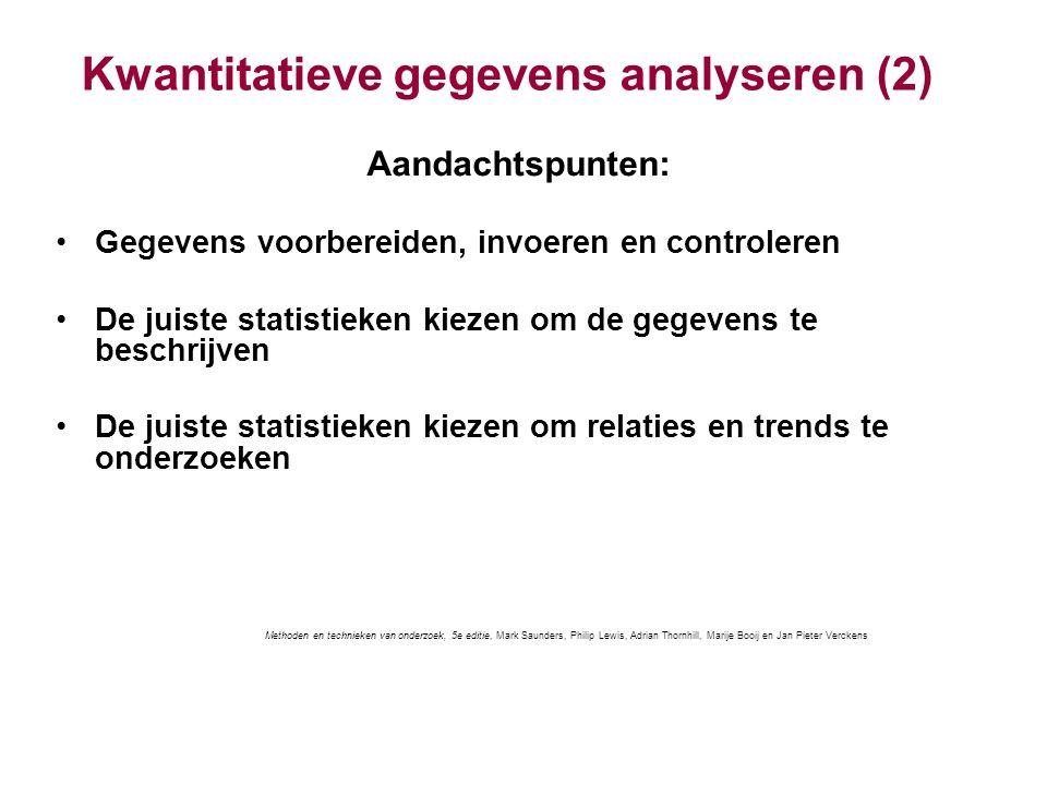 Kwantitatieve gegevens analyseren (2)