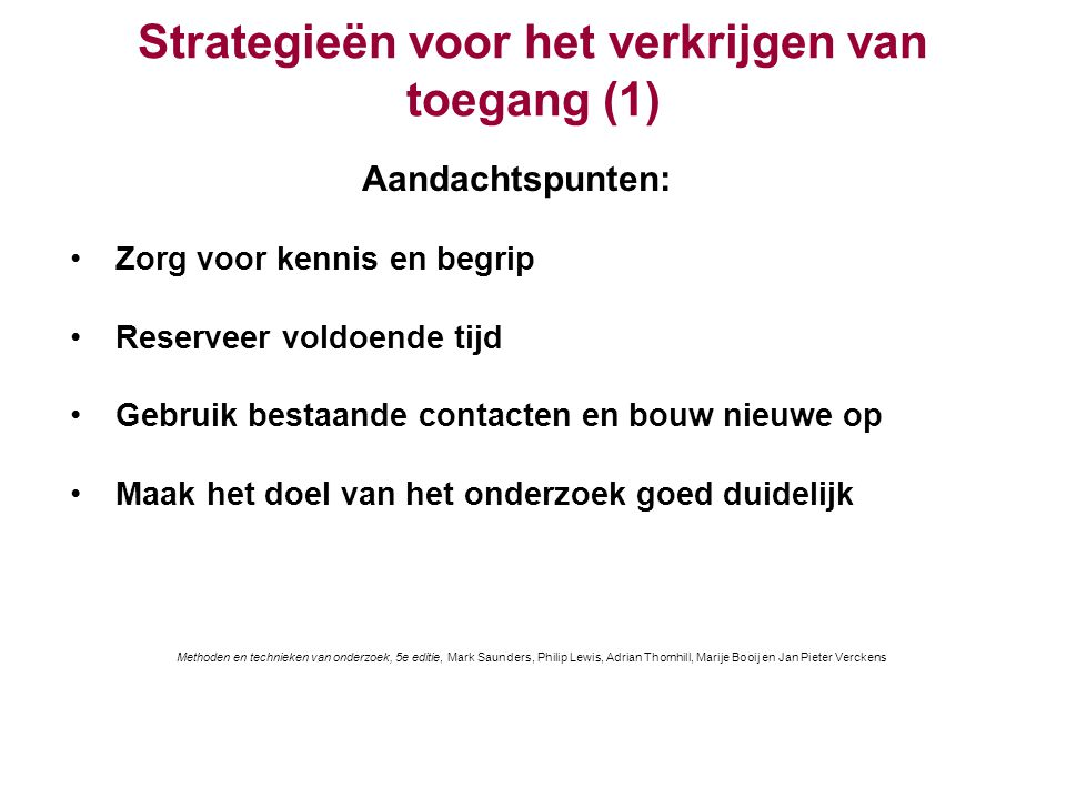 Strategieën voor het verkrijgen van toegang (1)