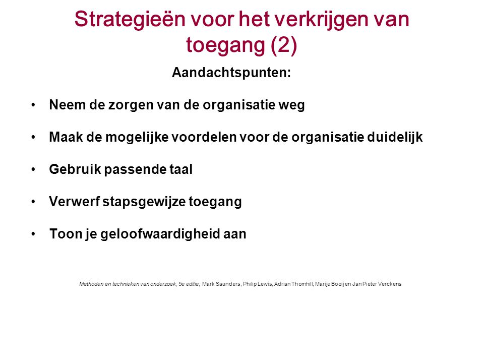 Strategieën voor het verkrijgen van toegang (2)