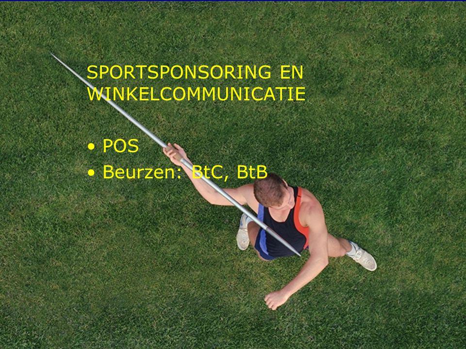 SPORTSPONSORING EN WINKELCOMMUNICATIE POS Beurzen: BtC, BtB
