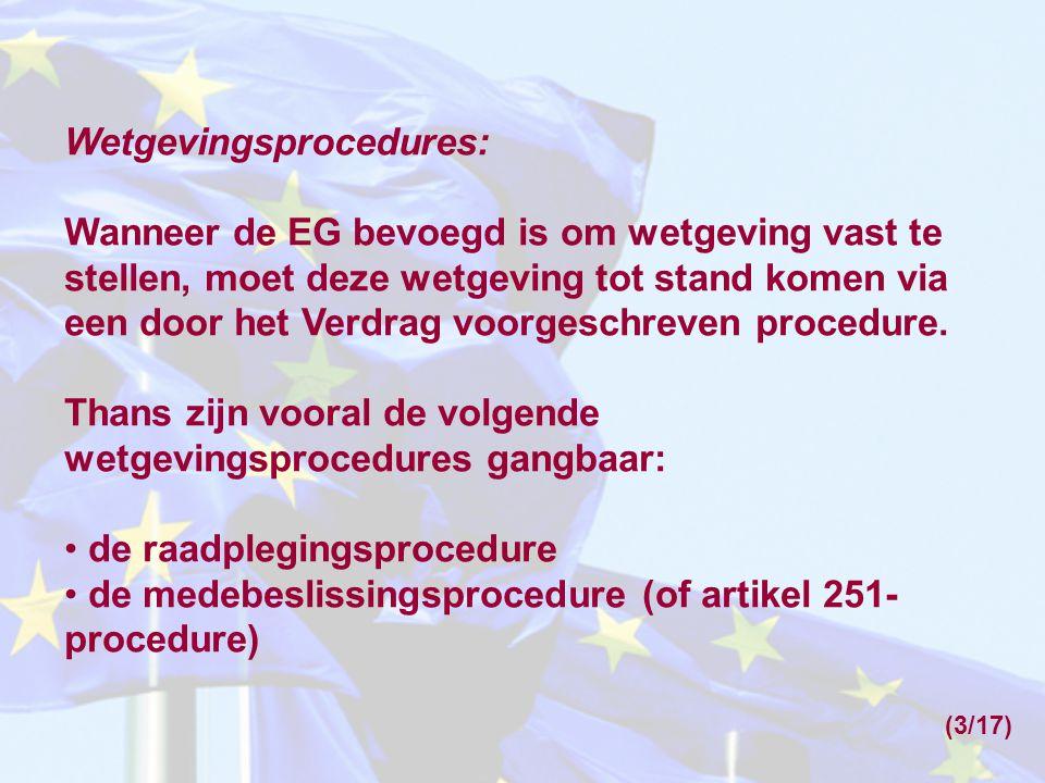 Wetgevingsprocedures: