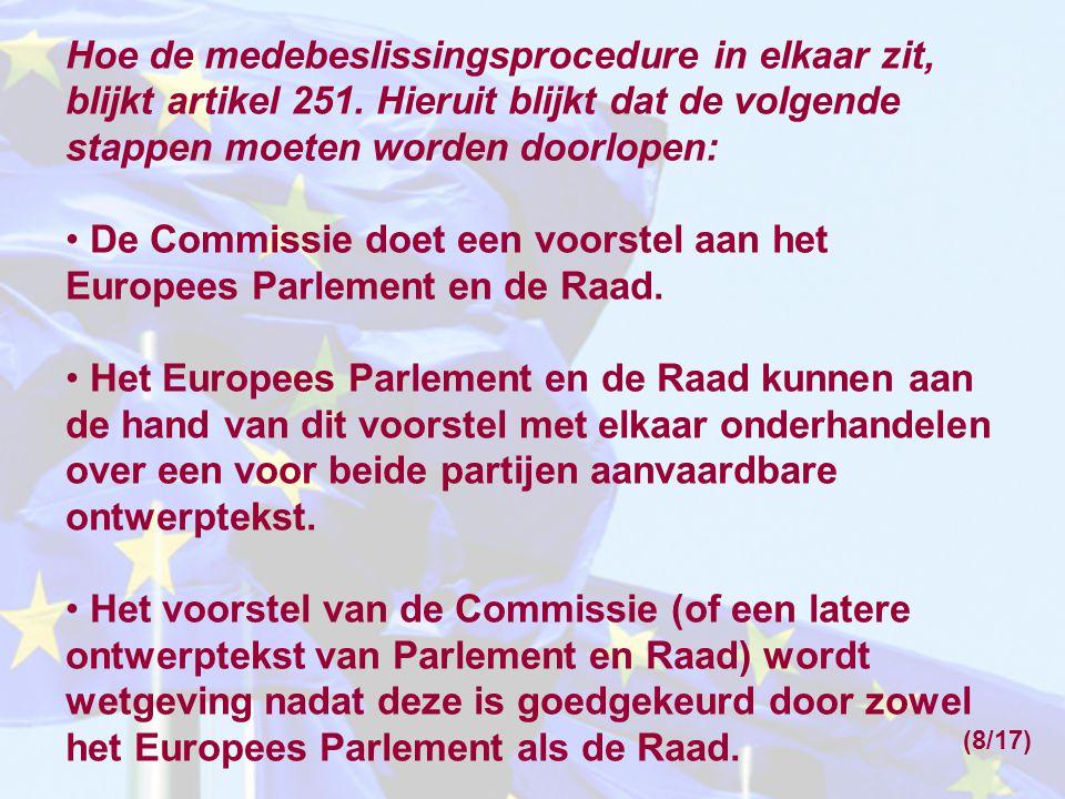 De Commissie doet een voorstel aan het Europees Parlement en de Raad.
