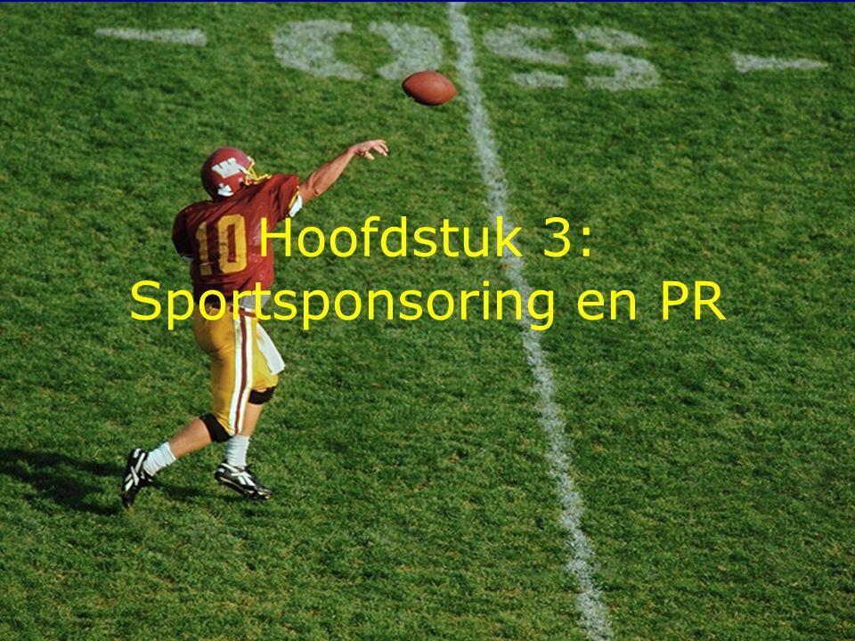 Hoofdstuk 3: Sportsponsoring en PR