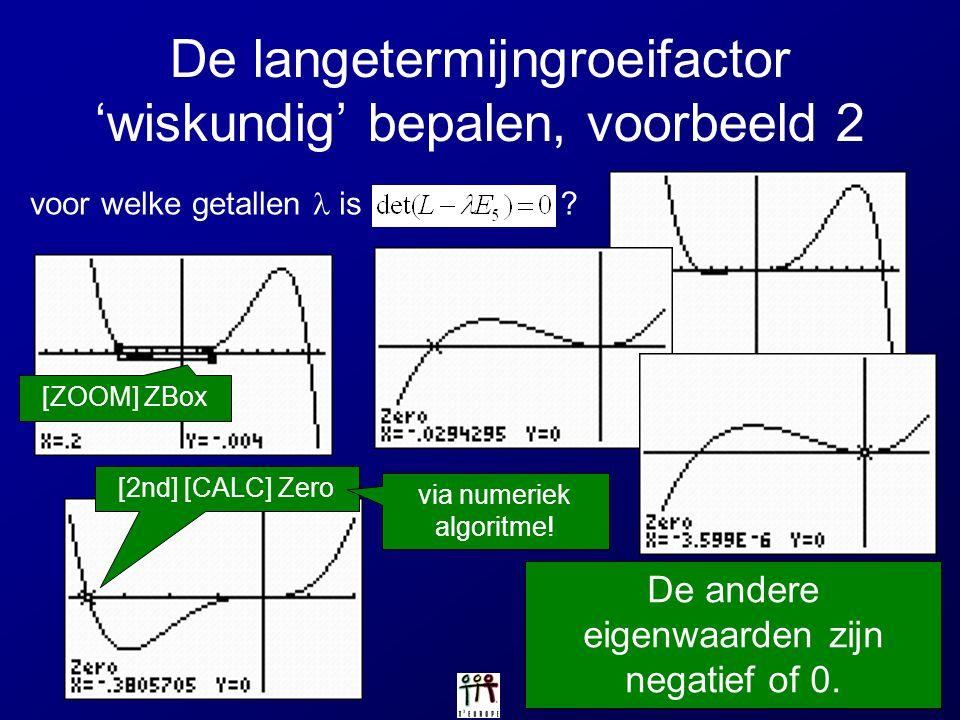 De langetermijngroeifactor 'wiskundig' bepalen, voorbeeld 2