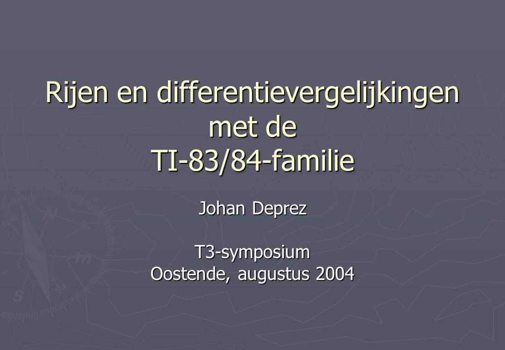 Rijen en differentievergelijkingen met de TI-83/84-familie