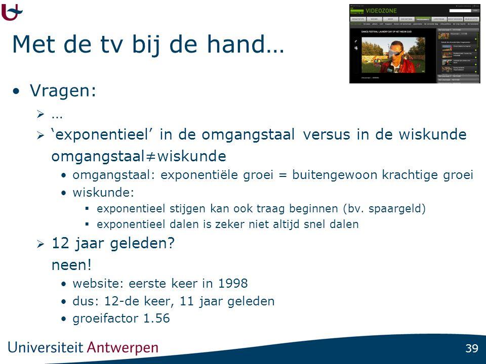 Logaritmen uit: De Standaard, 05/06/08