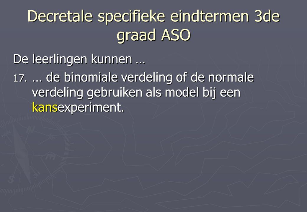 Decretale specifieke eindtermen 3de graad ASO