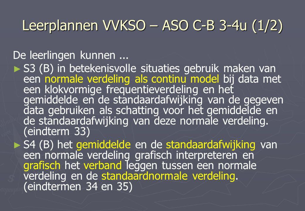Leerplannen VVKSO – ASO C-B 3-4u (1/2)