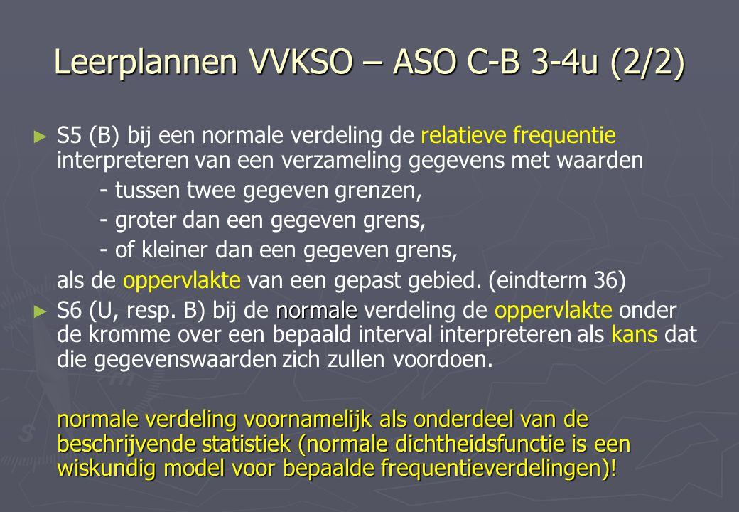 Leerplannen VVKSO – ASO C-B 3-4u (2/2)