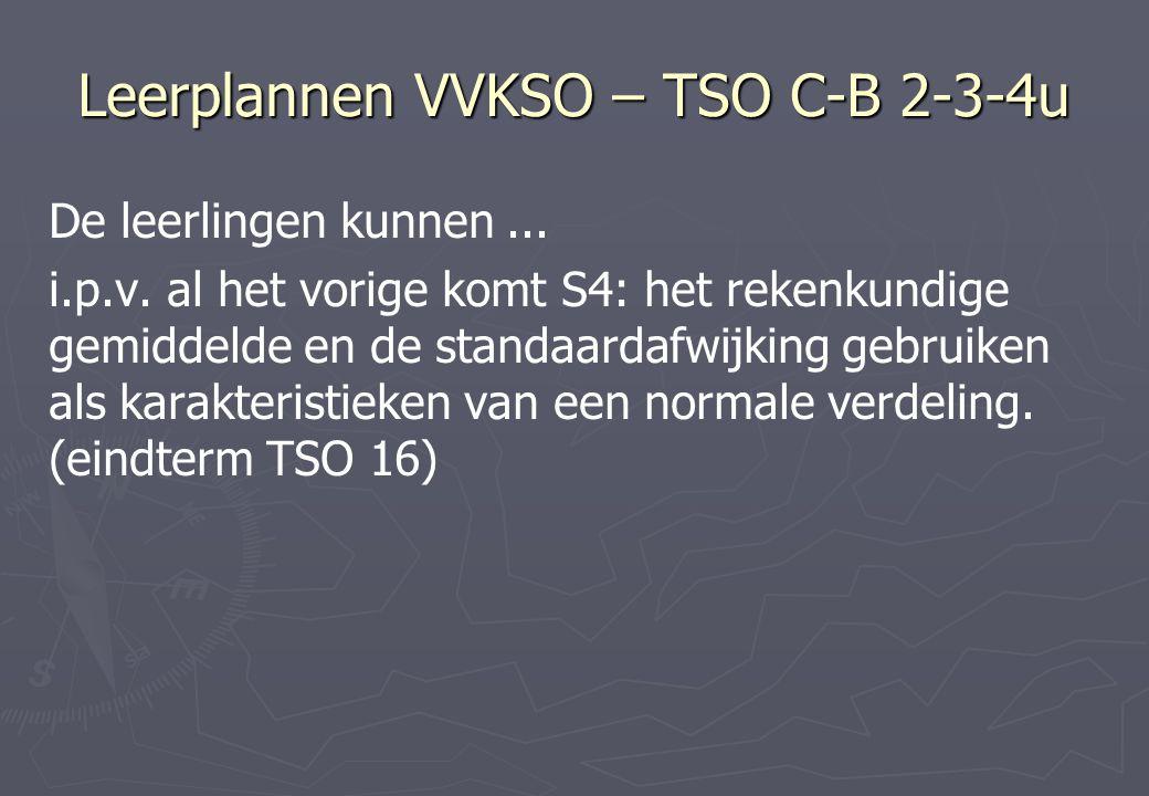 Leerplannen VVKSO – TSO C-B 2-3-4u