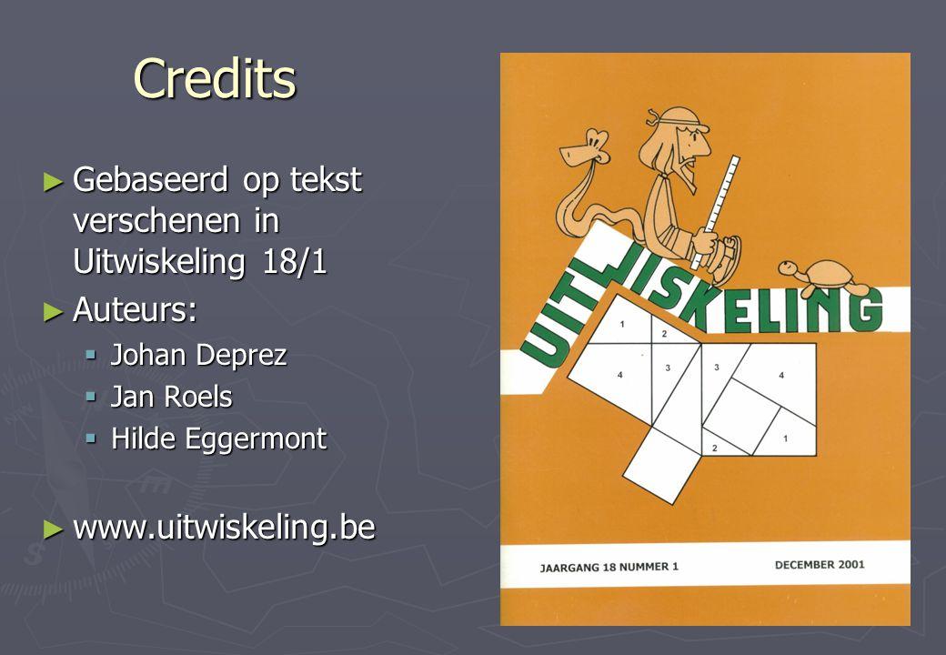 Credits Gebaseerd op tekst verschenen in Uitwiskeling 18/1 Auteurs: