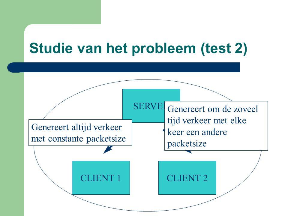 Studie van het probleem (test 2)