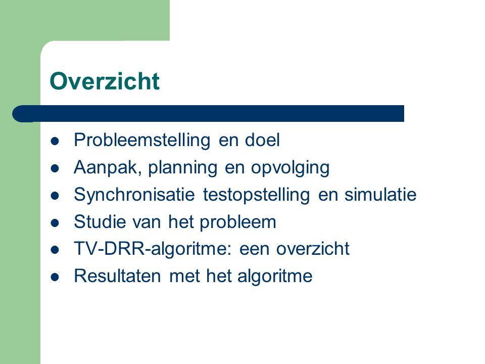 Overzicht Probleemstelling en doel Aanpak, planning en opvolging