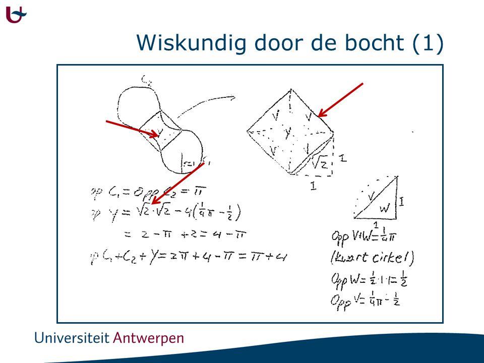 Wiskundig door de bocht (1)