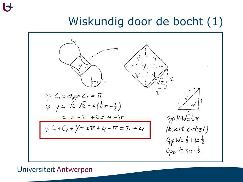 Wiskundig door de bocht (2)