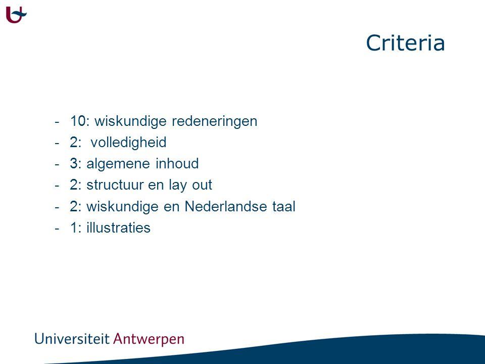 Criteria: groep De leerling denkt actief mee om de opdracht te verduidelijken en te analyseren.
