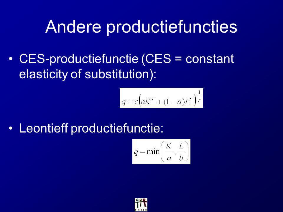 Andere productiefuncties