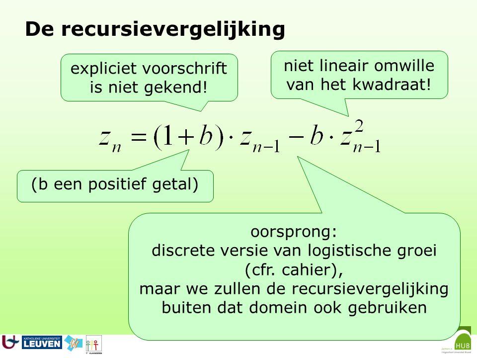 De recursievergelijking