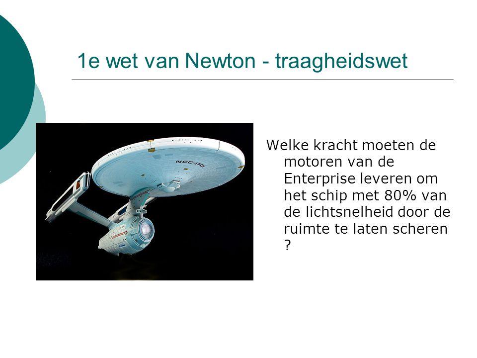 1e wet van Newton - traagheidswet
