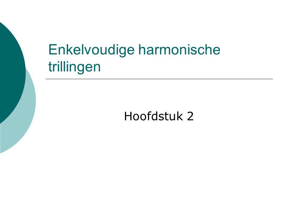 Enkelvoudige harmonische trillingen