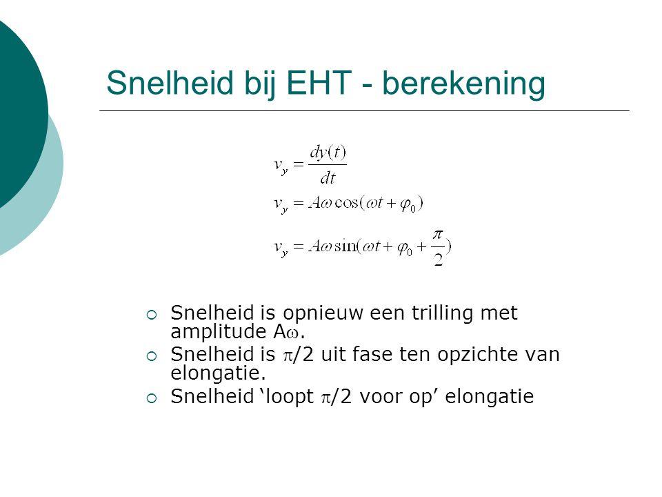 Snelheid bij EHT - berekening