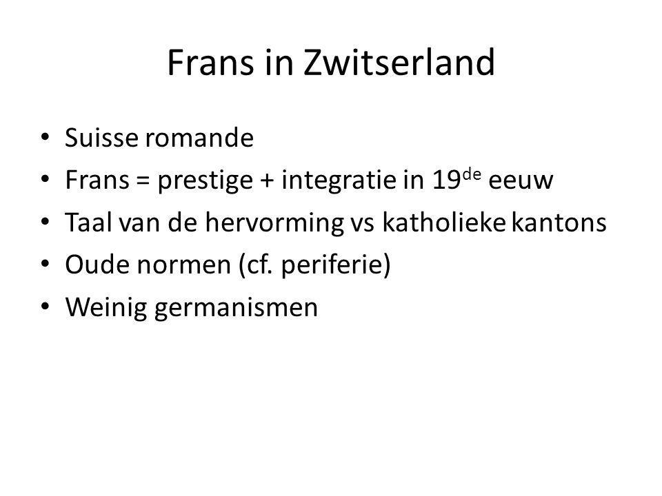 Frans in Zwitserland Suisse romande