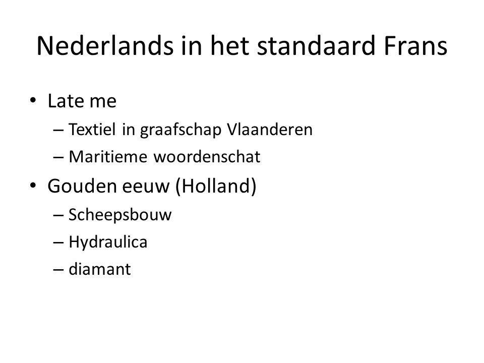 Nederlands in het standaard Frans