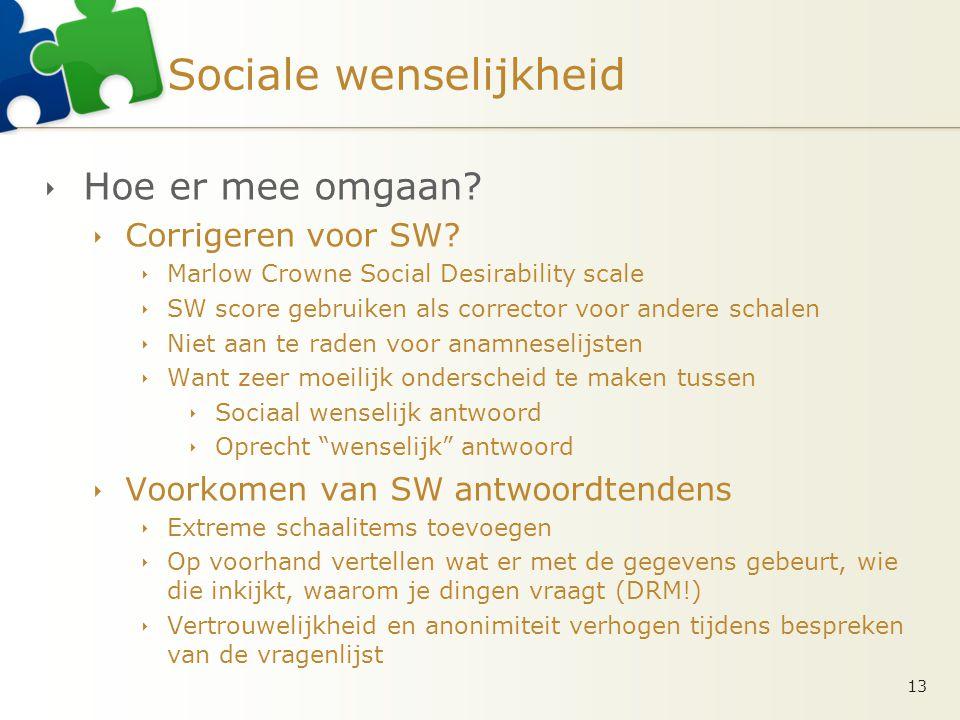 Sociale wenselijkheid