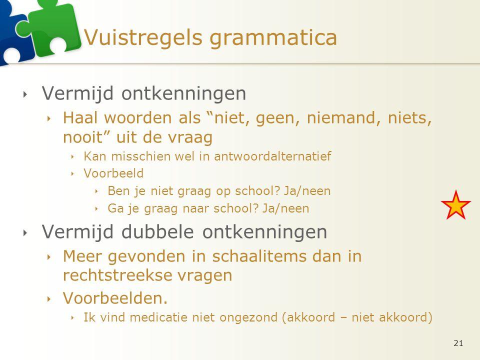 Vuistregels grammatica