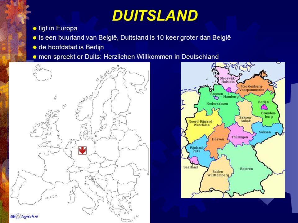 DUITSLAND ligt in Europa