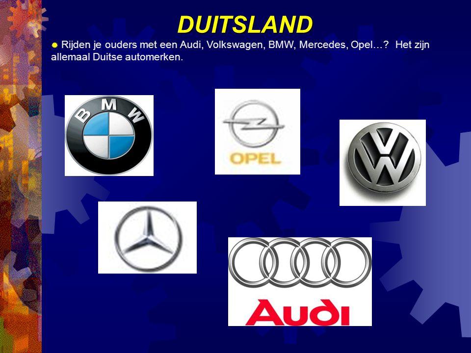DUITSLAND Rijden je ouders met een Audi, Volkswagen, BMW, Mercedes, Opel….