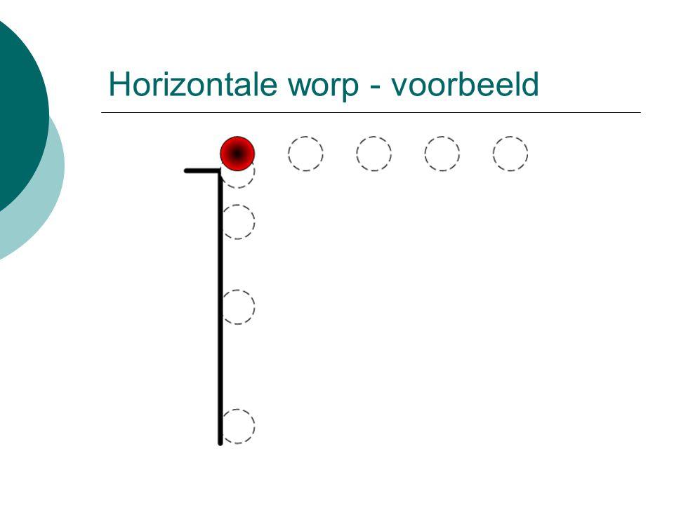Horizontale worp - voorbeeld
