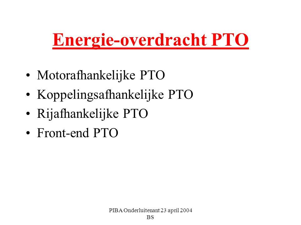 Energie-overdracht PTO