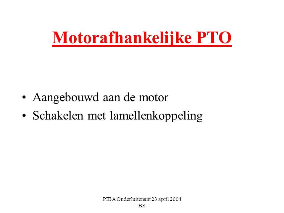 Motorafhankelijke PTO