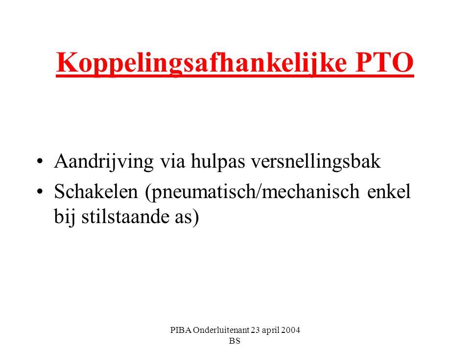 Koppelingsafhankelijke PTO