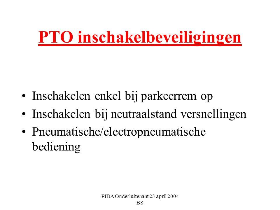 PTO inschakelbeveiligingen