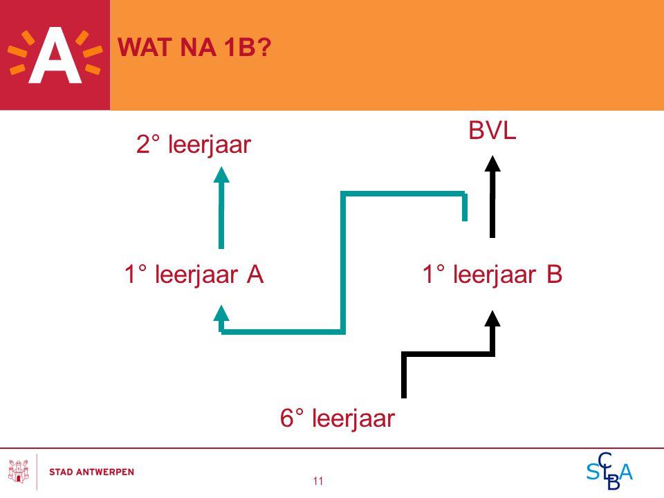 WAT NA 1B 2° leerjaar BVL 1° leerjaar A 1° leerjaar B 6° leerjaar
