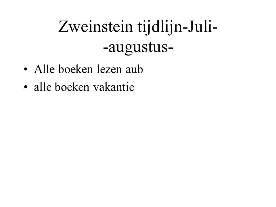 Zweinstein tijdlijn-Juli- -augustus-