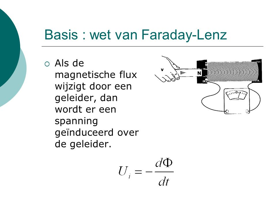 Basis : wet van Faraday-Lenz