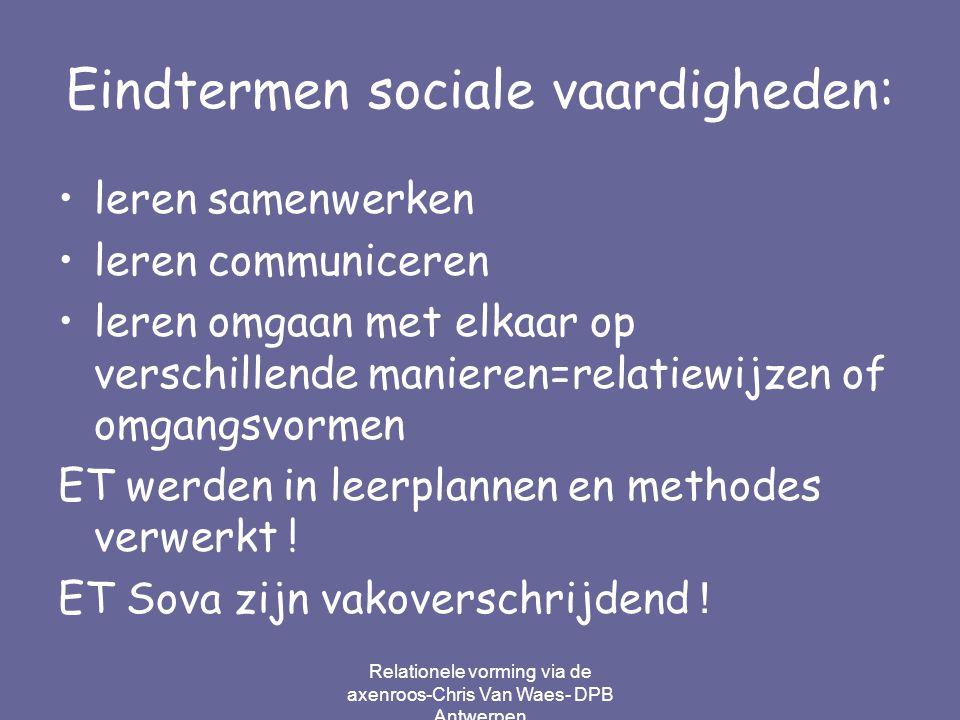 Eindtermen sociale vaardigheden: