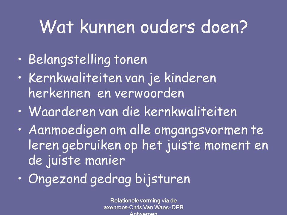 Relationele vorming via de axenroos-Chris Van Waes- DPB Antwerpen
