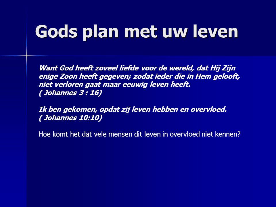 Gods plan met uw leven
