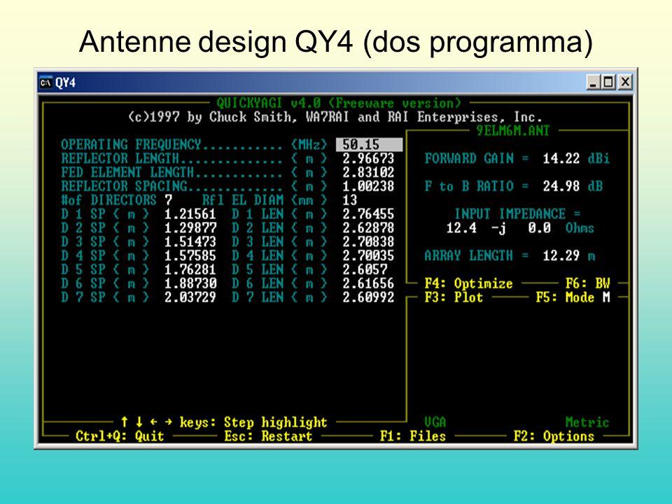 Antenne design QY4 (dos programma)